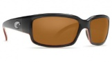 Costa Del Mar Caballito Sunglasses Black Coral Frame Sunglasses - Amber / Costa 400G