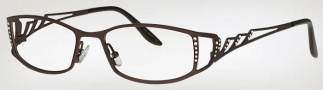 Caviar 1741 Eyeglasses Eyeglasses - (16) Brown w/Clear Crystal Stones
