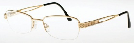 Caviar 2322 Eyeglasses Eyeglasses - (16) Brown w/ Clear Crystal Stones