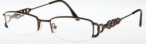 Caviar 2323 Eyeglasses Eyeglasses - (16) Brown w/ Clear Crystal Stones