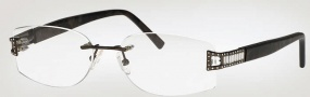 Caviar 2326 Eyeglasses Eyeglasses - (16) Brown w/ Clear Crystal Stones