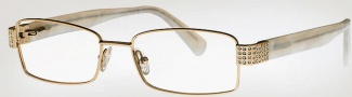Caviar 2327 Eyeglasses Eyeglasses - (16) Brown w/ Clear Crystal Stones
