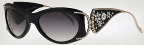 Caviar 6845 Sunglasses Sunglasses - (16) Brown w/ Clear Crystal Stones w/ Brown Lens