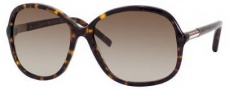 Tommy Hilfiger 1001/S Sunglasses Sunglasses - 0086 Dark Havana (CC Brown Gradient Lens)