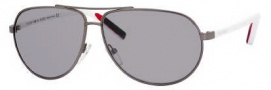 Tommy Hilfiger 1005/S Sunglasses Sunglasses - OUKO Ruthenium Blue / Red White (3R Gray Mirror Silver Lens)