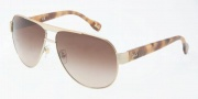 D&G DD6080 Sunglasses Sunglasses - 106013 Pale Gold / Brown Gradient