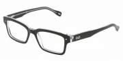 D&G DD1176 Eyeglasses Eyeglasses - 675 Black Top on Clear