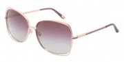 Tiffany & Co. TF3026B Sunglasses Sunglasses - 60484I Pink Gold / Plum Gradient Gray