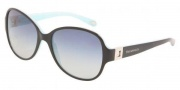 Tiffany & Co. TF4046B Sunglasses  Sunglasses - 80553C Top Black on Azure / Gray Gradient 