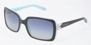 Tiffany & Co. TF4047B Sunglasses Sunglasses - 80553C Top Black on Azure / Gray Gradient