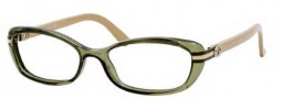 Gucci 3200 Eyeglasses Eyeglasses - 03lO Green Natural