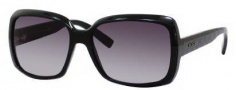 Gucci 3207/S Sunglasses Sunglasses - 0D28 Shiny Black (HD Gray Gradient Lens)