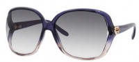 Gucci 3500/S Sunglasses Sunglasses - 0WNT Shiny Blue (UA Azure Flash Silver Lens)