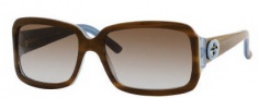 Gucci 3159/S Sunglasses Sunglasses - 0lPR Havana Blue (lF Brown Gradient Azure Lens)