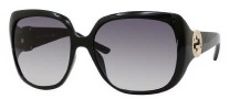 Gucci 3163/S Sunglasses Sunglasses - 0D28 Shiny Black (JJ Gray Gradient Lens)