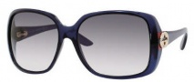 Gucci 3166/S Sunglasses Sunglasses - 0AG5 Blue Opal (BD Dark Gray Gradient Lens)