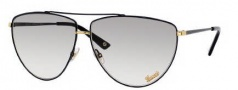 Gucci 2909/S Sunglasses Sunglasses - 0V6N Black Antique Gold (ll Gray Gradient Lens)