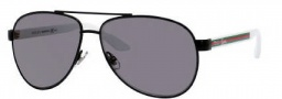 Gucci 2898/N/S Sunglasses Sunglasses - 0M6A Black White (BN Dark Gray Lens)