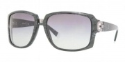 DKNY DY4074 Sunglasses Sunglasses - 350411 Striped Gray / Gray Gradient