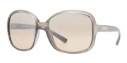 DKNY DY4076 Sunglasses Sunglasses - 34998Z Pearled Brown / Beige Mirror Silver Gradient