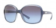 DKNY DY4076 Sunglasses Sunglasses - 35018F Pearled Blue / Blue Gray Gradient