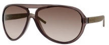 Gucci 1639/S Sunglasses Sunglasses - 0UYC Brown Gray Dark Ruthenium (S1 Brown Gradient Lens)