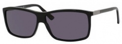 Gucci 1641/S Sunglasses Sunglasses - 029A Shiny Black (3H Smoke Polarized Lens)