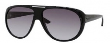 Gucci 1647/S Sunglasses Sunglasses - 0D28 Shiny Black (N6 Gray Gradient Lens)