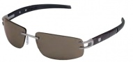 Tag Heuer L-Type LW 0402 Sunglasses Sunglasses - 201 Alligator Matte Brown  & Black Temples / Pure Lug / Brown Lenses