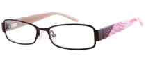 Candies C Aubrey Eyeglasses Eyeglasses - BRN: Satin Brown
