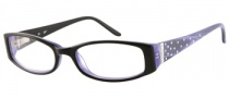 Candies C Billie Eyeglasses Eyeglasses - BLK: Black / Milky Purple