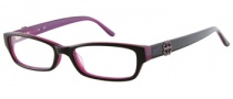Candies C Floral Eyeglasses Eyeglasses - BLKPUR: Black Purple 