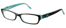 Candies C Floral Eyeglasses Eyeglasses - BRNBL: Brown Blue