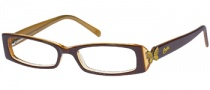 Candies C Hannah Eyeglasses Eyeglasses - BRNYL: Brown Yellow