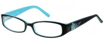 Candies C Lotus Eyeglasses Eyeglasses - BLKBL: Black Blue