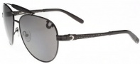 True Religion Brody Sunglasses Sunglasses - Shiny Black W/ Grey
