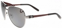 True Religion Brody Sunglasses Sunglasses - Shiny Silver W/ Silver Flash Gradient