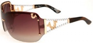 True Religion Cassidy Sunglasses Sunglasses - Satin Gold
