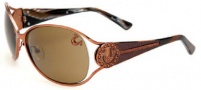 True Religion Jackie Sunglasses Sunglasses - Shiny Copper