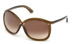 Tom Ford FT0201 Charlie Sunglasses Sunglasses - 48F Shiny Dark Brown / Gradient Brown