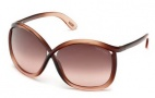 Tom Ford FT0201 Charlie Sunglasses Sunglasses - 50F Dark Brown / Gradient Brown