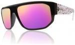 Electric BPM Sunglasses Sunglasses - Pink Splatter / Grey Plasma Chrome Lens