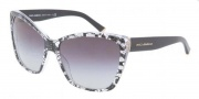 Dolce & Gabbana DG4111M Sunglasses Sunglasses - 18958G Black Lace Gray Gradient 
