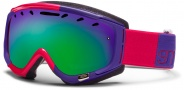 Smith Optics Phase Snow Goggles Goggles - Neon Red Typeress  / Green Sol X Mirror