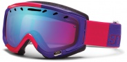 Smith Optics Phase Snow Goggles Goggles - Neon Red Typeress / Blue Sensor Mirror