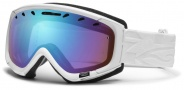 Smith Optics Phase Snow Goggles Goggles - White Facet / Blue Sensor Mirror