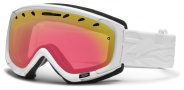 Smith Optics Phase Snow Goggles Goggles - White Facet / Red Sensor Mirror