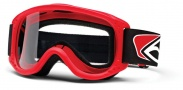 Smith Optics Junior MTB Series Snow Goggles Goggles - Red Clear AFC Lexan Lens