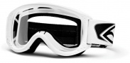 Smith Optics Junior MTB Series Snow Goggles Goggles - White Clear AFC Lexan Lens