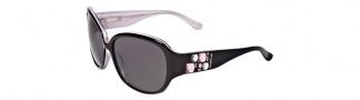 Bebe BE7028 Sunglasses Sunglasses - Black Pink / Grey Gradient